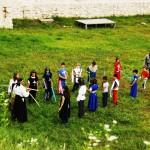 Cavalerii la antrenament