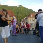 Tango argentinian in Piata Sfatului Brasov
